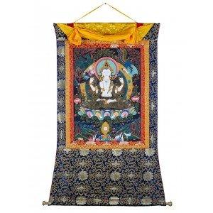 Thangka Buddhas Chenrezig 93 x 135 cm