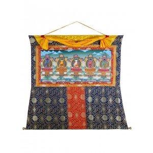 Thangka Pancha Buddha 124 x 150 cm
