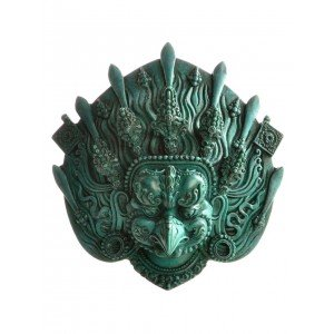 Garuda Maske Resin türkis  14 cm