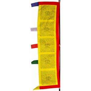 Gebetsfahne - Gebetsstandarte 2,3 m gelb, rot, blau, grün, weiß