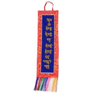 Wandbehang -  Medizinbuddha  Mantra 51 cm
