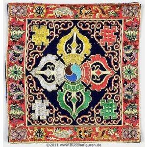 Altardecke buddhistisch  21 cm x 21 cm
