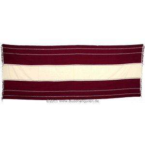 Meditationsschal weiß rot