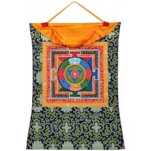 Thangka auf Leinwand handgemalt in hochwertiger Qualität Yantra Nr.9