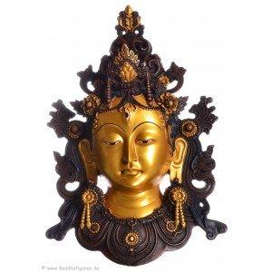 Tara Maske 34 cm Resin golden