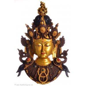 Tara Maske 43 cm Resin golden