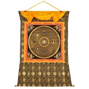 Thangka Mandala Weiße Tara  Mantra 121 x 152 cm