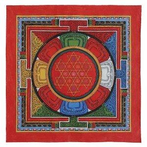 Thangka Shri-Yantra 35 x 35 cm
