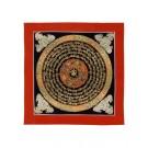Thangka Mandala OM 26 x 26 cm