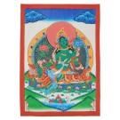Thangka Grüne Tara 28,5 x 40 cm