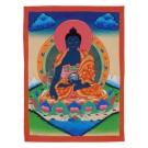 Thangka Medizinbuddha 30,5 x 39,5 cm