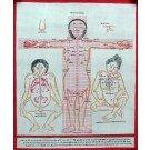 Tibetischer Medizin Yoga Thangka Nr. 6  40 x 49cm