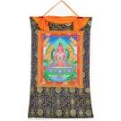 Thangka Amitayus Buddha des langen Lebens 72 x 112 cm