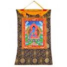 Thangka Medizinbuddha 56 x 83 cm