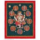 Newari Thangka - Vishnu - Narasimha 45 X 56 cm