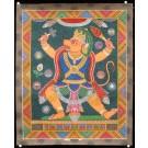 Newari Thangka -  Hanuman  45 cm x 55 cm